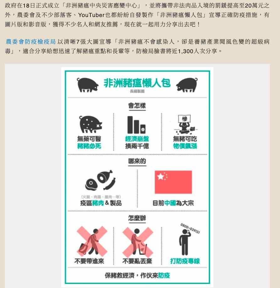 預防豬瘟 自由電子報
